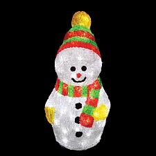 Снеговик световой Неон-Найт 513-275 Снеговик с шарфом