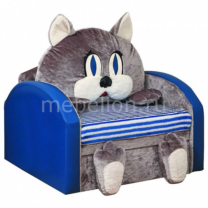 Диван-кровать Мася-10 Кот 8051127 синий/серый  маленькая тумбочка с раковиной