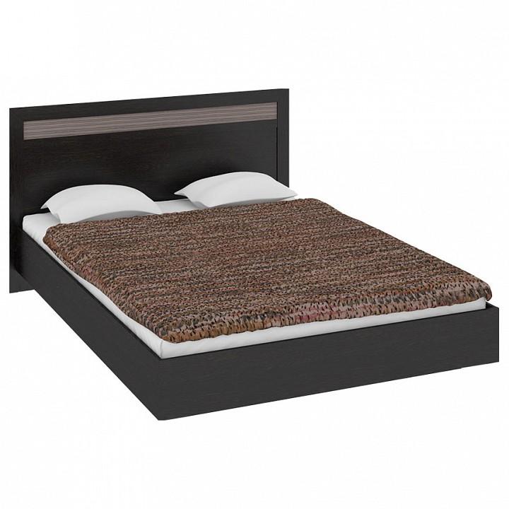Кровать полутораспальная Мебель Трия Токио СМ-131.02.001-М мебель трия токио см 131 10 001 венге цаво венге цаво каналы дуба