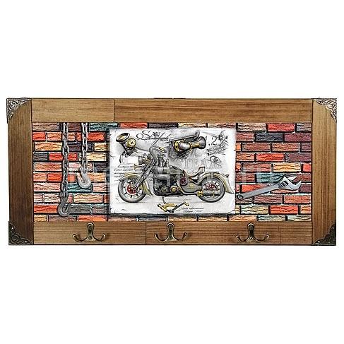 Настенная вешалка (52х23 см) Мотоцикл 314-5