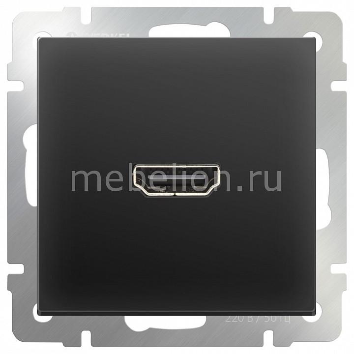Розетка HDMI без рамки Черный матовый WL08-60-11