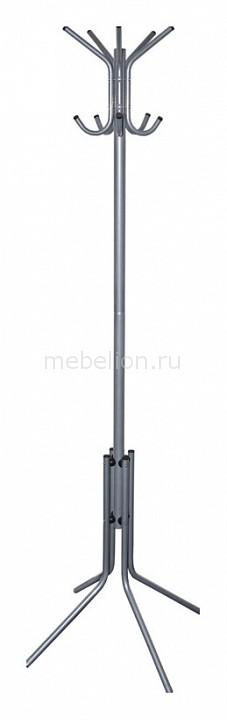 Вешалка напольная Бюрократ Вешалка-стойка Бюрократ CR-002 серый/металлик вешалка стойка brabix cr 274 металл мрамор 1 8 м на диске диаметр 38см 5 крючков 4 дополнительных венге 601744