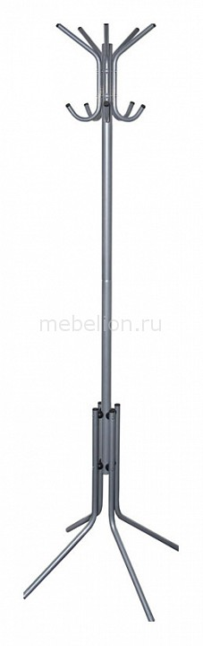 Вешалка-стойка Бюрократ CR-002 серый/металлик