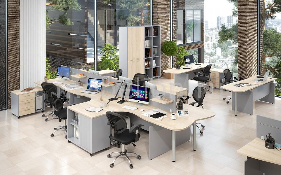 Гарнитур офисный Skyland Offix New techlink pr130swlo белый светлый дуб