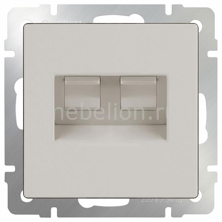 Розетка двойная Ethernet RJ-45 без рамки Werkel Слоновая кость WL03-RJ45+RJ45-ivory cat6 180 degree angle rj45 ethernet keystone round jack coupler pack of 5