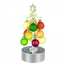 Ель световая с елочными шарами (18 см) ART 594-024