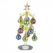 Ель новогодняя с елочными шарами (20 см) ART 594-037