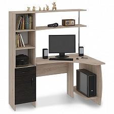 Стол компьютерный Профи (М) дуб сонома/венге цаво