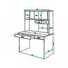 Стол компьютерный Домино СК-60