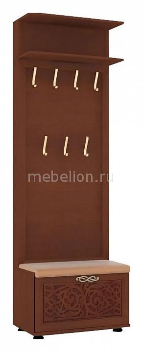 Вешалка для одежды напольная Вешалка корпусная 125.090 Александрия орех  тумбочка из досок