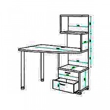 Стол компьютерный Домино СКМ-60
