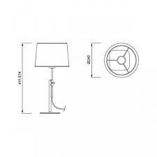 Настольная лампа Mantra 5321+5322 Habana