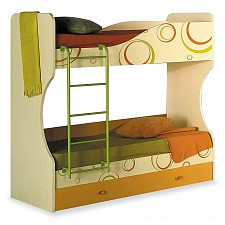 Кровать двухъярусная Любимый Дом Фруттис 503.030 желтый/лайм/манго