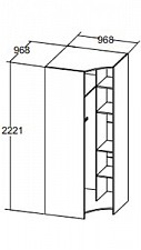 Шкаф платяной Валенсия 633280.000
