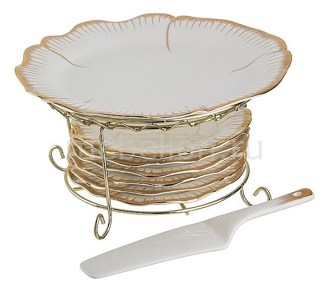 Купить Сервиз столовый (27 см) Цветочная симфония 590-083, АРТИ-М, Россия, белый, золотой, фарфор