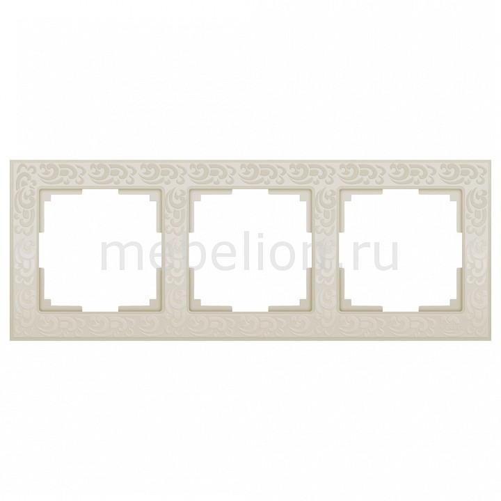 Рамка на 3 поста Werkel Flock WL05-Frame-03-ivory цена