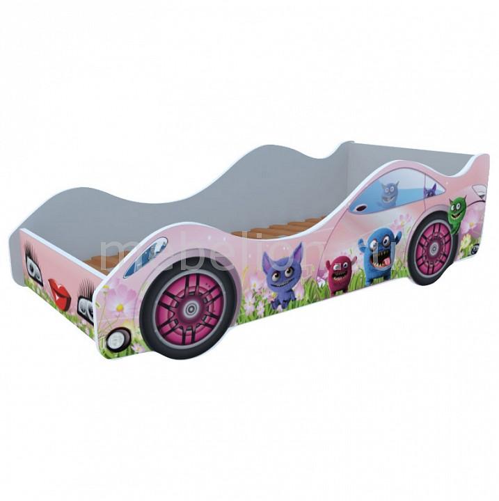 Кровать-машина Лесные зверюшки M055