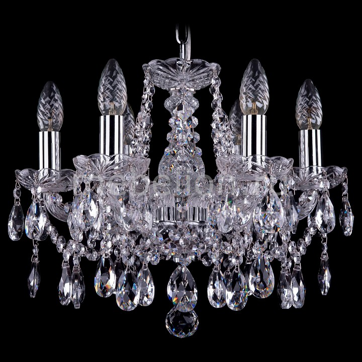 Подвесная люстра Bohemia Ivele Crystal 1413/6/141/Ni 1413