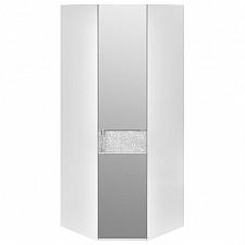 Шкаф платяной угловой Амели СМ-193.07.007 R белый глянец