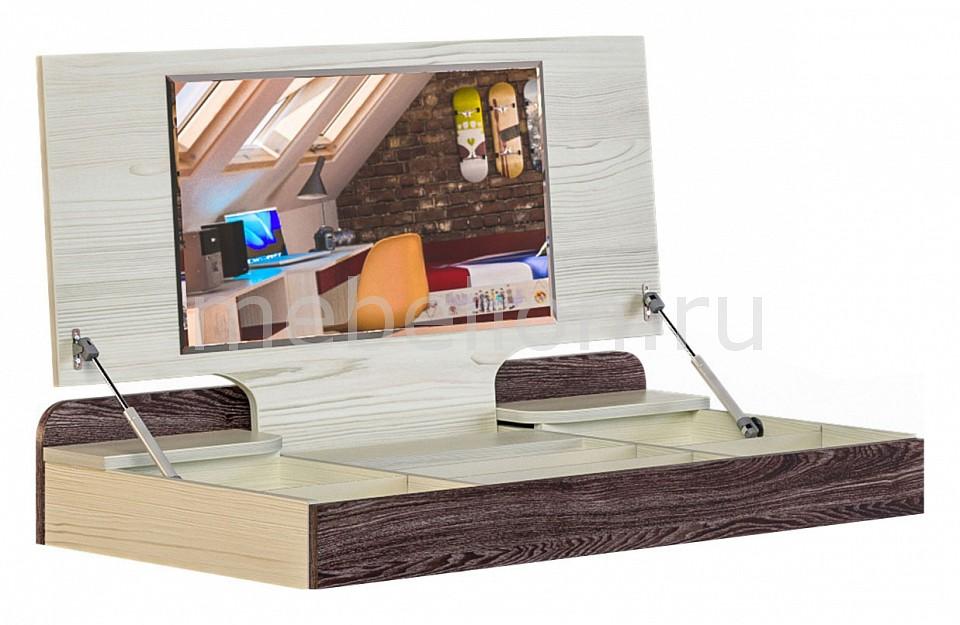 Надстройка с зеркалом Сканд-Мебель Актив-1