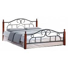 Кровать двуспальная Tetchair 808 1.8 красное дерево/черный