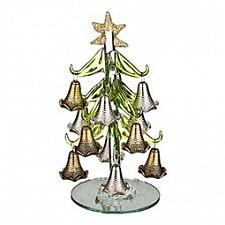 Ель новогодняя с елочными игрушками (15 см) ART 594-099