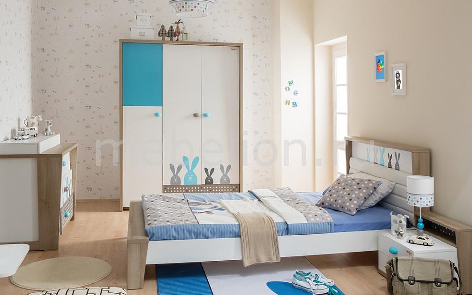 Гарнитур для детской Blue Bunny белый/коричневый/голубой