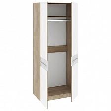 Шкаф платяной Ларго СМ-181.07.005 дуб сонома/белый глянец