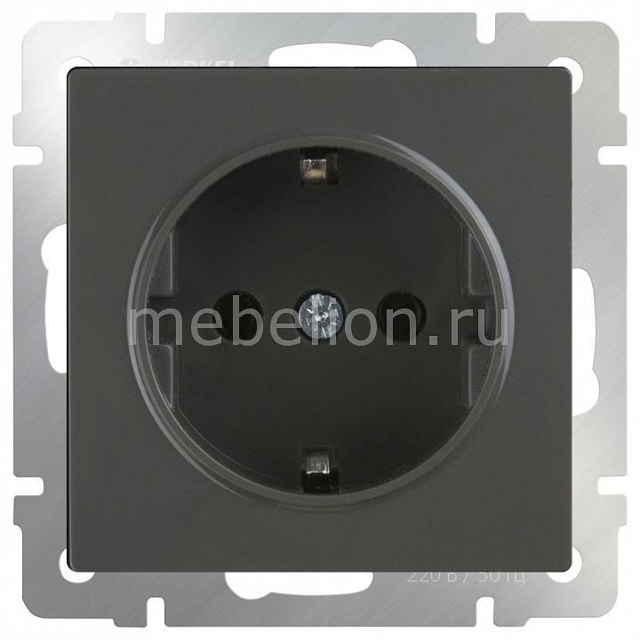Купить Розетка с заземлением без рамки Серо-коричневый WL07-SKG-01-IP20, Werkel, Швеция