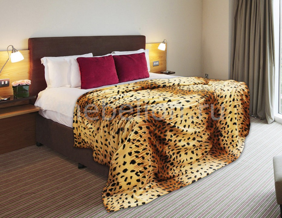 цены Плед TexRepublic (180х220 см) Шкура гепарда в полоску