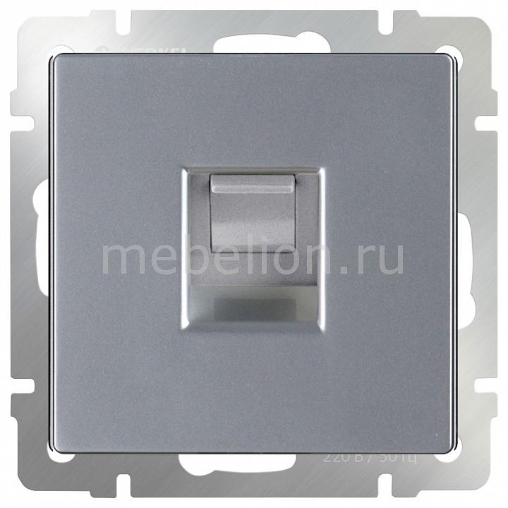 Розетка Ethernet RJ-45 без рамки Werkel Серебряный WL06-RJ-45 chkj серебряный 42 мм