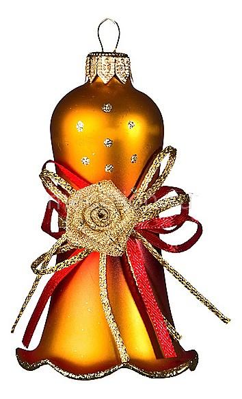 Елочная игрушка (10 см) Колокольчик декоративный 860-086