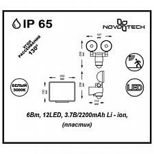 Настенный прожектор Novotech 357344 Solar