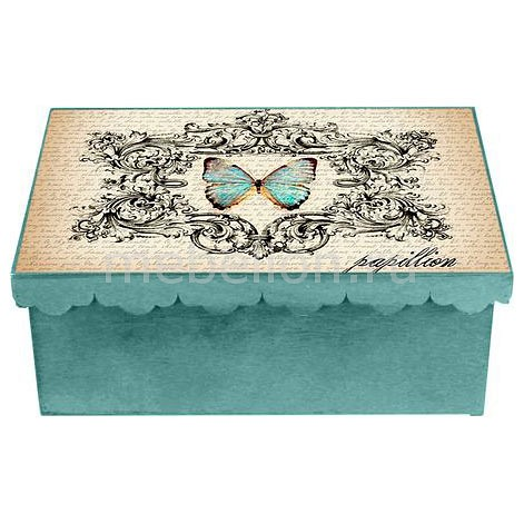 Шкатулка декоративная (26х18х13 см) Бабочка 1826-10