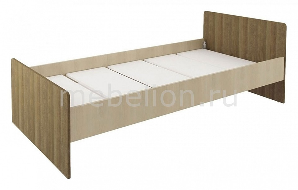 Кровать Мика СТЛ.121.01-01 дуб кремона/ясень кассино  угловая тумба под обувь