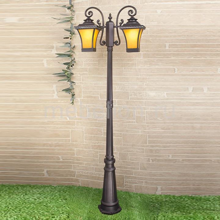 Фонарный столб Elektrostandard Libra F/2 венге (арт. GLXT-1408F/2) садовый светильник elektrostandard taurus f малахит арт glxt 1458f