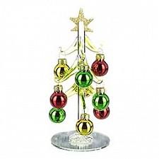 Ель новогодняя с елочными шарами (15 см) ART 594-001