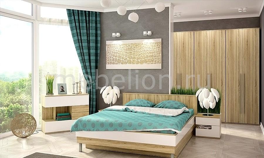 Гарнитур для спальни Ирма 12 дуб сонома/белый глянец