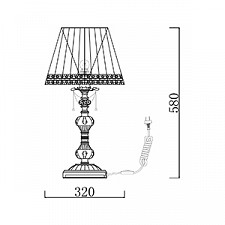 Настольная лампа Maytoni ARM305-22-W Lolita