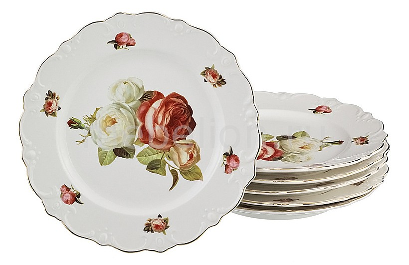 Набор из 6 тарелок плоских 249-038