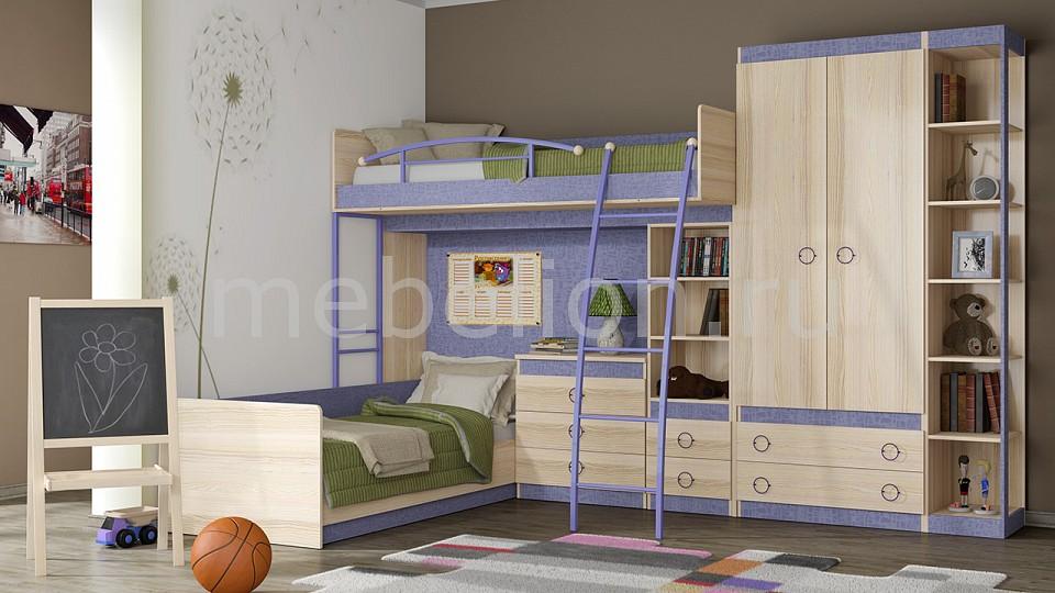 Набор для детской Мебель Трия Индиго ГН-145.016 шкаф платяной угловой мебель трия шкаф платяной индиго пм 145 12 ясень коимбра навигатор