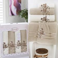 Набор полотенец для ванной Karna Набор из 4 полотенец для ванной PAPILON