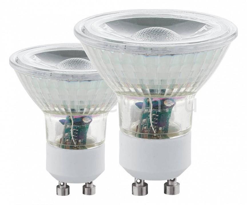 Комплект из 2 ламп светодиодных Eglo COB GU10 50Вт 3000K 11511 youoklight 13w gu10 810lm 3200k 2 cob warm white light spotlight silver grey ac 100 240v