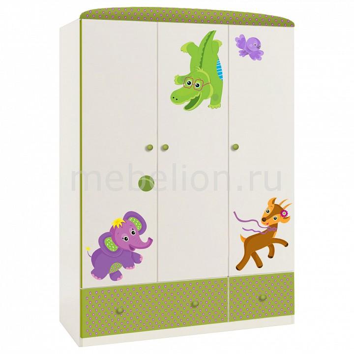 Шкаф платяной Polini Polini Basic Elly кроватка детская polini kids basic elly с комодом белый зеленый