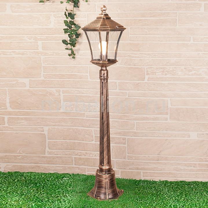 Наземный высокий светильник Elektrostandard Virgo F черное золото (арт. GLXT-1450F) elektrostandard taurus f малахит арт glxt 1458f