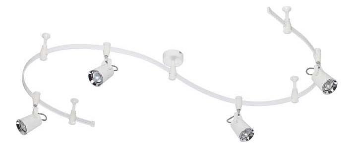 Комплект Odeon Light Flexiwhite 3628/4TR odeon light 3628 1 odl18 000 белый с хромом гибкая трековая система ip20 e14 50w 220v flexiwhite
