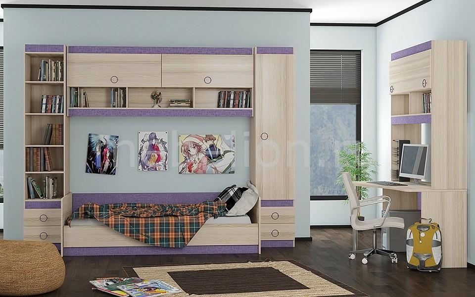 Гарнитур для детской Мебель Трия Индиго ГН-145.017 ясень коимбра/навигатор
