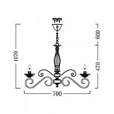 Подвесная люстра Maytoni ARM333-06-W Elegant 11