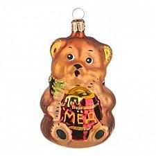 Елочная игрушка АРТИ-М (10 см) Мишка с мёдом 860-350