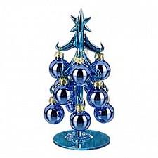 Ель новогодняя с елочными шарами (15 см) ART 594-082
